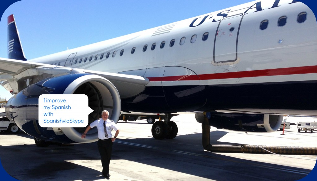 Al Day (US Airways pilot) studies Spanish with SpanishviaSkype for more than a year
